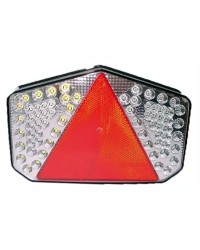 Feu de remorque droit à LED avec catadioptre