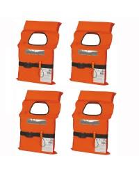 Pack de 4 gilets de sauvetage 100 Newtons - adulte