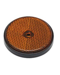 Catadioptre - orange - ø60 mm