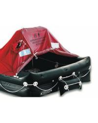 Radeau norme ISO 9650 10 places + équipement de survie 24H - en sac