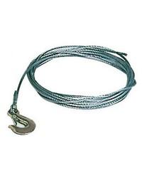 Câble de treuil - acier galva - ø5 mm x 6 M
