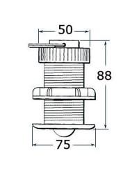Sonde vitesse/température traversante Raymarine E26031