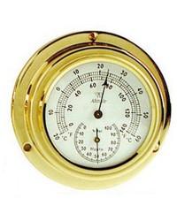 Hygromètre/Thermomètre Altitude 842 en laiton brillant et émaillé