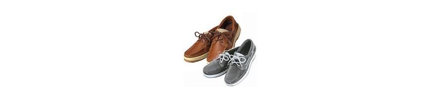 Chaussure bateau sport grise et maron