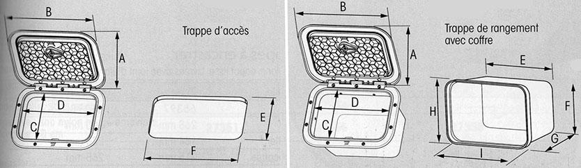 Trappe plastimo dimensions