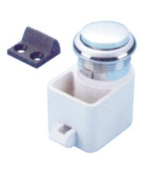 Déclic à bouton Self latching pour porte 16 à 22 mm