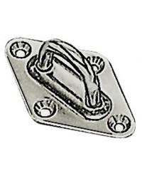 Pontet sur platine en losange inox 37x59