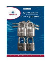 Set de 4 cadenas arc inox inox 20mm interne