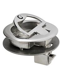Lève-plancher ou fermeture porte Ø 63mm encastrement avec serrure