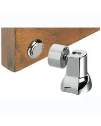 Ferme porte magnétique orientable en laiton chromé