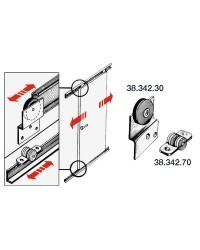 Rail pour porte coulissante en inox 45x14x2000mm (partie haute)