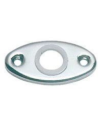 Molettes ovales en laiton chromé pour poignées - par paire