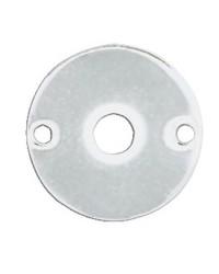 Molettes ovales en laiton chromé pour poignées Ø45mm - par paire
