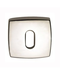 Rosace pour serrure - par paire 45x45 mm trou ovale