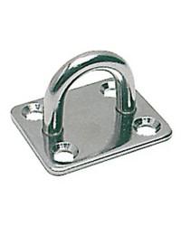Pontet inox embase rectangulaire 40x50 mm - ø 8 mm