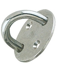 Pontet inox embase circulaire 33 mm - fil : ø5mm