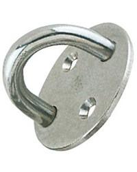 Pontet inox embase circulaire 50 mm - fil : ø8mm