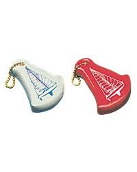 Porte-clés voilier rouge - pièce
