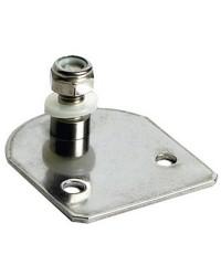 Plaque inox avec pivot fileté 8mm côté porte