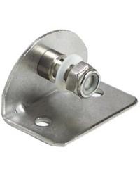 Plaque inox avec pivot fileté 8mm interne