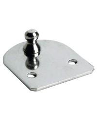Plaque côté porte rotule Ø10mm