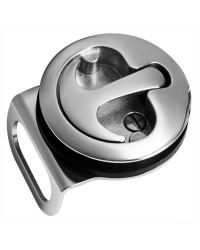Fermeture inox pour salle de bains avec blocage/déblocage de l'intérieur