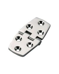 Charnière trapézoïdale symétrique inox 38x74mm nœud à ras