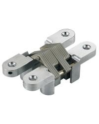 Charnière escamotable inox 84mm pour portes à encastrer ouverture 180° x 2