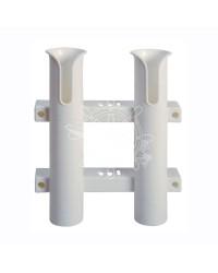 Porte-canne à PECHE ø44 fixe à paroi plastique 2 emplacements