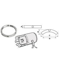 Kit ANODE Volvo SailDrive pour hélices 3 pales zinc OEM 3858399