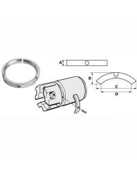 Anode aluminium pour hélice pieds Sail Drive 3 pales OEM 3858399