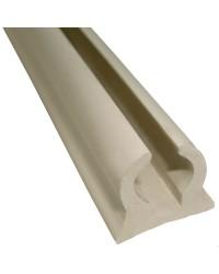 Profil de ralingue semi-rigide PVC pour capotes et coussins X 4M - blanc