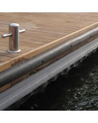 Profilé PVC noir 70x70mm pour quai ou bateaux de travail x 2M