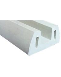 Profilé PVC gris 72x30mm 2m