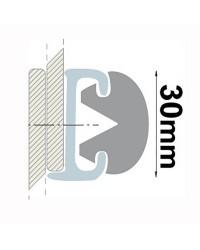 Profile PVC gris hauteur 30 mm - rouleau de 20 mètres