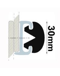 Profile PVC noir hauteur 30 mm - rouleau de 20 mètres