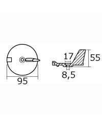 Anode queue de carpe alu pour Yamaha 25/60 HP 4 temps OEM 67C-45371-00