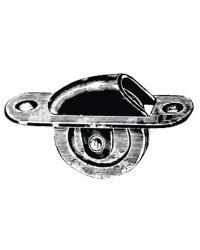 Poulie de pont - laiton chromé - à encastrer - ø60 mm