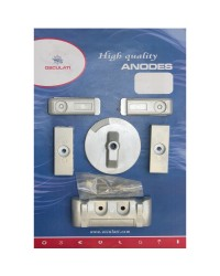 Kit ANODE Mercury pour VERADO 6 magnésium OEM 892227x4+880653+826134x2+762145