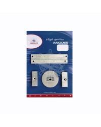 Kit ANODE Mercury pour 75/80/90/100/115 EFI alu OEM 826134x2 + 31640 + 818298