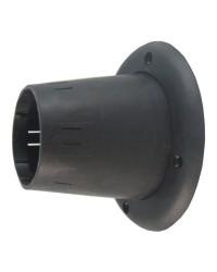 Passe-câble ouvert noir - ø105 mm exterieur - PVC