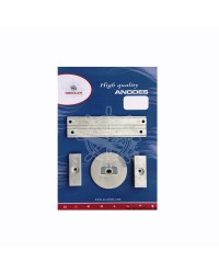 Kit ANODE Mercury pour 75/80/90/100/115 EFI magnésium OEM 826134x2 + 31640 + 818298