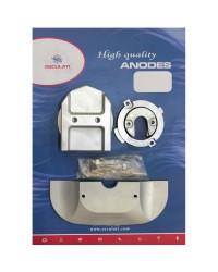 Kit ANODE Mercruiser pour ALPHA I S2 à partir de 91 alu OEM 762145+806189x2+806105+821629+821631