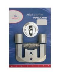 Kit ANODE Mercruiser pour BRAVO I à partir de 88 alu OEM 762145+806188x1+821630+806190x2