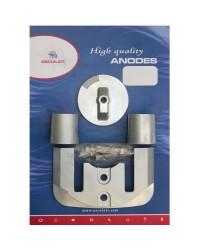 Kit ANODE Mercruiser pour BRAVO 2 à partir de 89 et B3 (89-2003) zinc OEM 762145+821630+806190x2