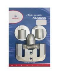 Kit ANODE Mercruiser pour BRAVO 3 à partir de 2004 magnésium OEM 762144+762145+865182+821630+806190x2
