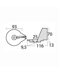 Queue de carpe Magnésium 25/50CV pour mercury 2 et 4 temps OEM 822157-C2
