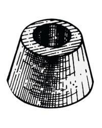 Anode Vetus conique à fixer avec un boulon - zinc - Ø78x45h