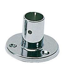 Platine laiton chromé droite - ø22 mm