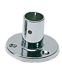 Platine laiton chromé droite - ø25 mm